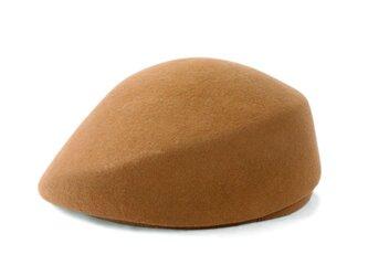 豊富なカラバリで選び放題!現代風ベレートーク帽 ブラウン(18AWN-002)の画像