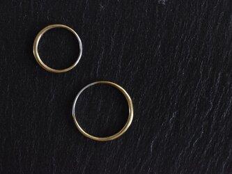 """真鍮の指輪 """"新月""""の画像"""