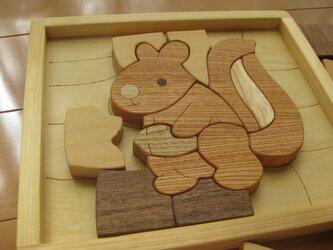 木製パズル(りす)の画像