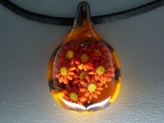 花、花、花、NO.2(ガラス、花、ペンダント)の画像