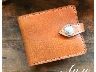 栃木レザー二つ折り財布*オイルバケッタCamelの画像