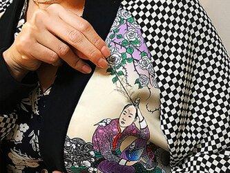 【受注製作】ゆるふわ男子柄の植毛刺繍ブルゾンの画像