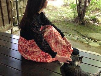 銘仙淡いピンクの2段テアードスカートMプレ価格!の画像