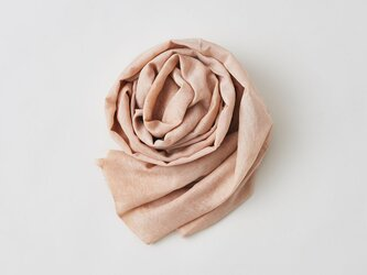 enrica cottonsilk scarf pinkbeige / natural dyeの画像
