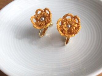 tatting lace earring/pierce【flower】の画像