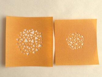 ステンシル型紙2枚(三角塊)の画像