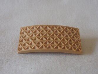 #13 チップカービングバレッタ 【木工彫刻】の画像