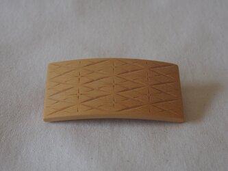 #14 チップカービングバレッタ 【木工彫刻】の画像