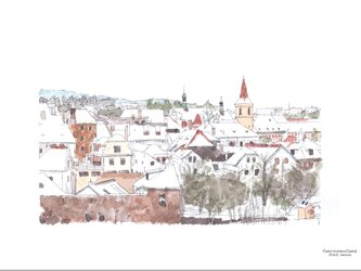 冬景色(チェスキークルムロフ)の画像