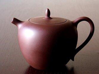 日本限定【台湾茶壺】台湾茶用急須 『甕』 -  かめ - 木箱付きの画像