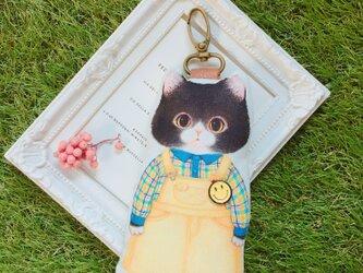 『猫好きによるねこ好きのため』のふわふわキーホルダー いたずら大好きねこ君の画像
