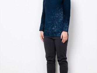 藍染 長袖カットソー 星空 size1の画像