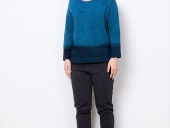 藍染 長袖カットソー グラデーション size1の画像
