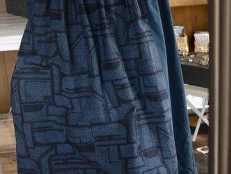 結城紬着物からワンピースの画像