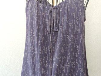 着物リメイク 淡藤色のキャミソールブラウスの画像