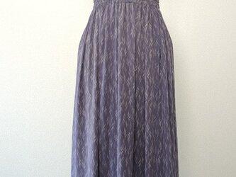 着物リメイク 淡藤色のギャザースカートの画像