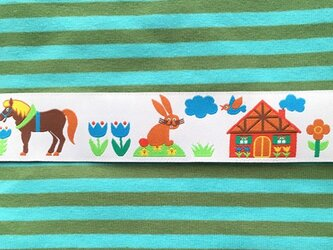 ドイツファーベミクス 刺繍リボン 1m-農場の風景の画像