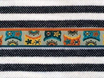 ドイツファーベミクス 刺繍リボン 1m-ふくろう グレーの画像
