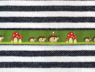 ドイツファーベミクス 刺繍リボン 1m-ハリネズミの家族の画像