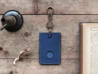 藍染革[shiboai] リール付ICカード・パスケースの画像