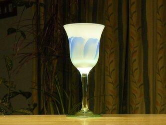 トルコキキョウのワイングラス 水色×青 (1個)の画像