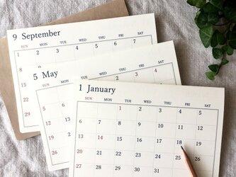 シンプルなカレンダー*始まり月自由の画像