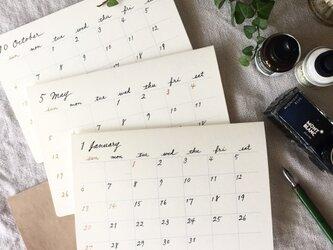 手書きのカレンダー*始まり月自由の画像
