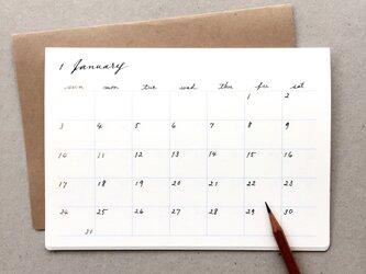 手書きのカレンダー*卓上・壁掛け 何月からでも 月曜日始まりもOKの画像