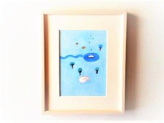 「雨の日に見た夢」イラスト原画/額縁入りの画像