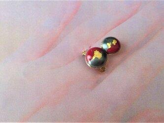 大小円二色七宝金箔指輪の画像