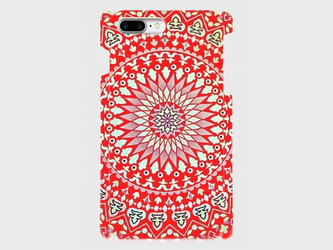 幸福のマンダラパターン(レッド)  iphone 6plus/7plus/8plus 専用ハードケースの画像