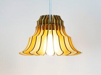 「フランネルフラワー(メープル)」木製ペンダントライトの画像
