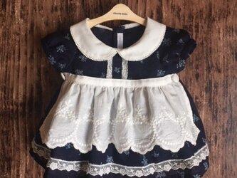 ダッフィーサイズのお洋服 エプロンワンピースの画像