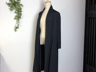 着物リメイク  正絹 ロングストールカーディガンの画像