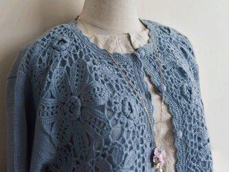 【1着限定】お花たっぷり ウール・ セーター ニット JND001の画像