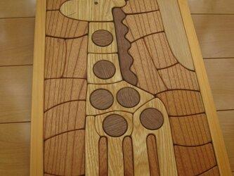 木製パズル(きりん)大の画像