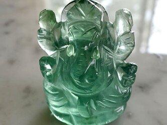 ガネーシャ・カービング(彫像)ブルーフローライト-aの画像