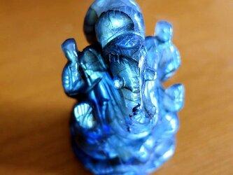 ガネーシャ・カービング(彫像)ラブラドライト-bの画像