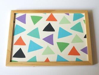 cheerful triangle ( blue ) A4ポスターの画像