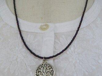 銀色の樹 ペンダントの画像