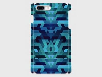 ネイティブパターン (blue)  iphone 6plus/7plus/8plus 専用ハードケースの画像