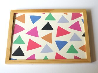 cheerful triangle ( pink ) A4ポスターの画像