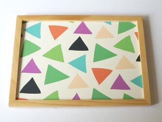 cheerful triangle ( green ) A4ポスターの画像