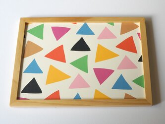 cheerful triangle ( colorful ) A4ポスターの画像