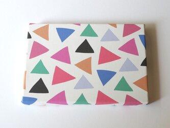 cheerful triangle ( pink ) ファブリックパネルの画像