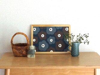popy ( brown × grey × deep blue ) A4ポスターの画像