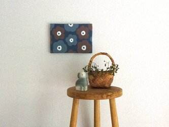 popy ( brown × grey × deep blue ) ファブリックパネルの画像