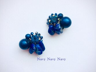 Navy Navy Navyイヤリングの画像