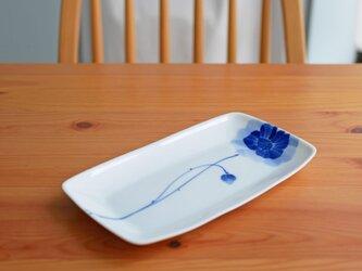 元気なアネモネいちりんの長皿  の画像