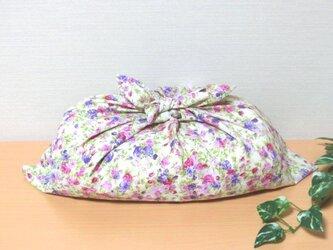 あづま袋  あずま袋 (大)ピンク花柄 プレゼントにも の画像